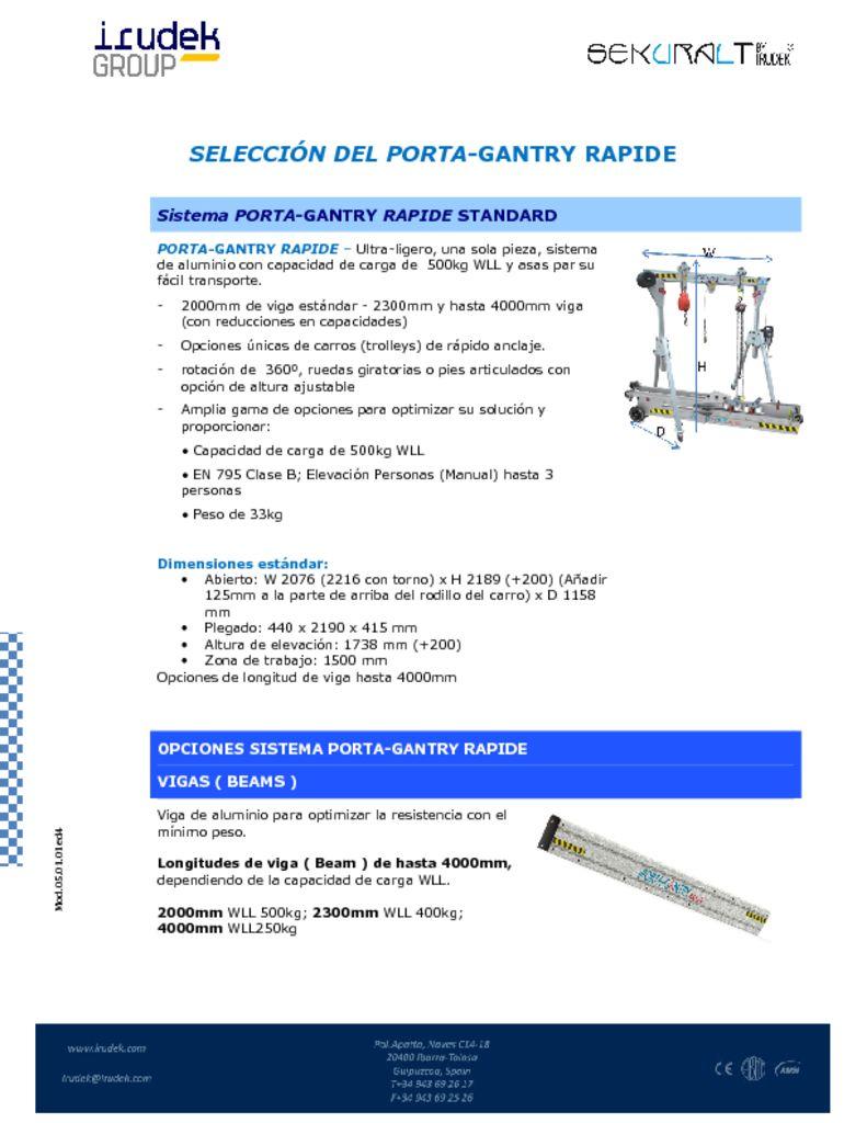 thumbnail of SELECCIÓN DEL PORTA GANTRY RAPIDE